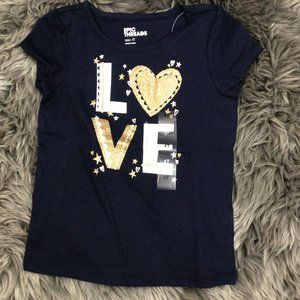 Epic Threads| Girl's T-shirt| Navy | Love |